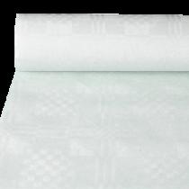 Bordsduk Papstar Damast vit 10x1,2 m