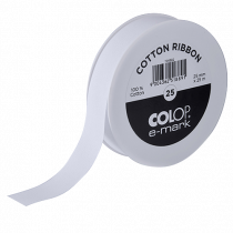 Bomullsband Colop e-mark 25 mm x 25 m