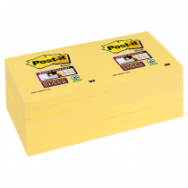 Post-it Super Sticky Notes Canary Yellow 76x76 mm 12/fp