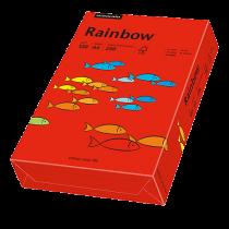 Färgat papper Rainbow A4 120 g intensivröd 250/fp