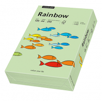 Färgat papper Rainbow A4 120 g mellangrön 250/fp