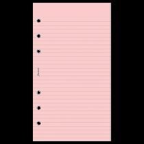 Anteckningsblad Personal linjerade rosa 30/fp