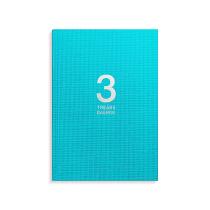 3-årsdagbok turkos linnetextil