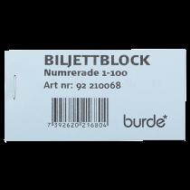 Biljettblock 1-100 blå