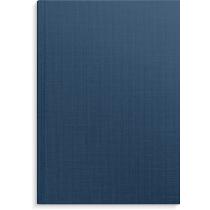 Anteckningsbok blå linnetextil linj A4