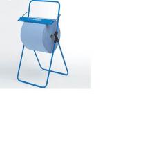 Golvställ blå metall med hjul